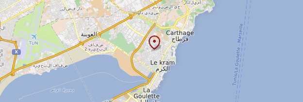 Carte La Goulette - Tunisie