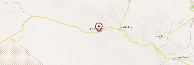 Carte Tamezret - Tunisie