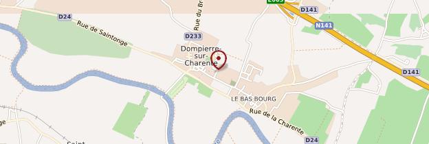 Carte Dompierre-sur-Charente - Poitou, Charentes