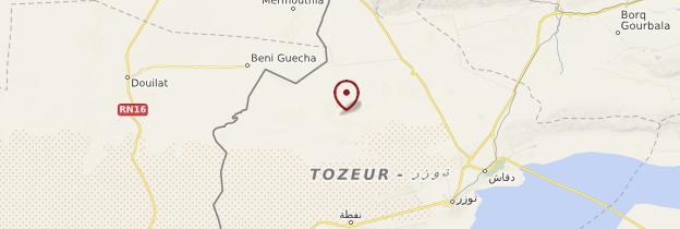 Carte Chott El-Gharsa - Tunisie
