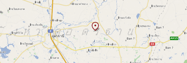 Carte Udon Thani - Thaïlande