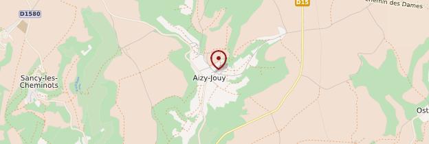 Carte Aizy-Jouy - Picardie