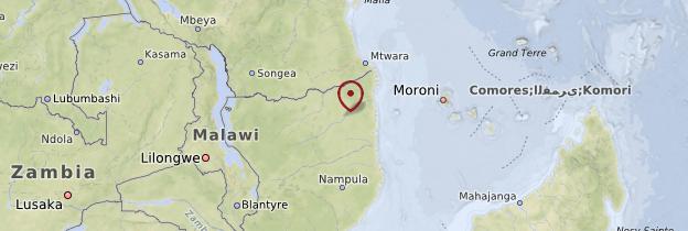 Carte Province de Cabo Delgado - Mozambique