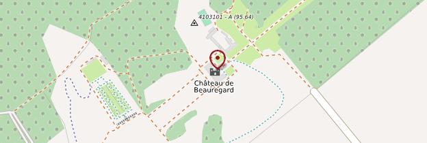 Carte Château de Beauregard - Châteaux de la Loire