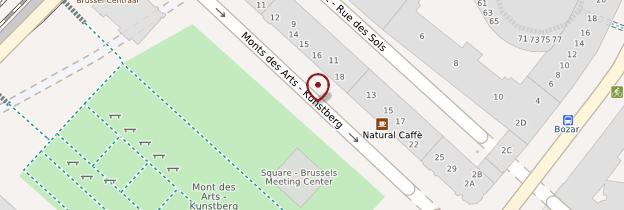 Carte Quartier et musées du Mont des Arts - Bruxelles