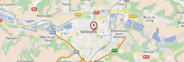 Carte Soissons - Picardie