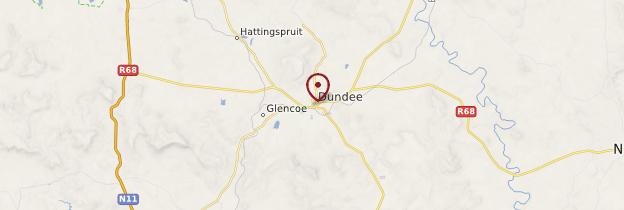 Carte Dundee - Afrique du Sud