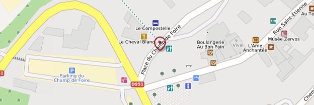 Carte Place du Champ-de-Foire - Bourgogne