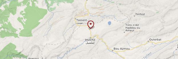 Carte Lac de Tislit - Maroc