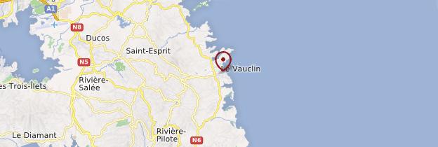 Carte Le Vauclin - Martinique