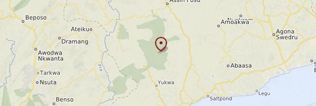 Carte Kakum National Park - Ghana