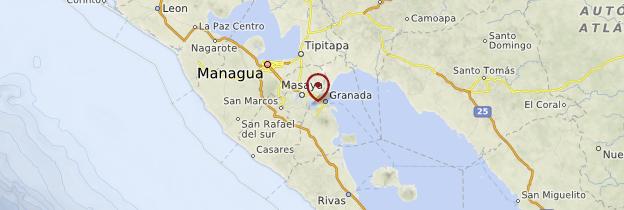 Carte Laguna de Apoyo - Nicaragua