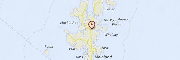 Carte Îles Shetland - Écosse