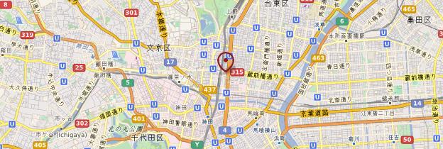 Carte Akihabara, la ville électrique - Tokyo