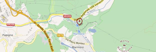 Carte Cascata delle Marmore - Italie