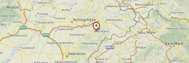 Carte Nyírbátor - Hongrie