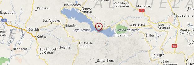 Carte Réserve de Caño Negro - Costa Rica
