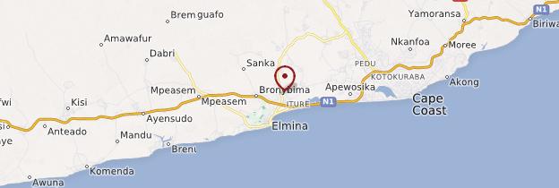 Carte Elmina - Ghana