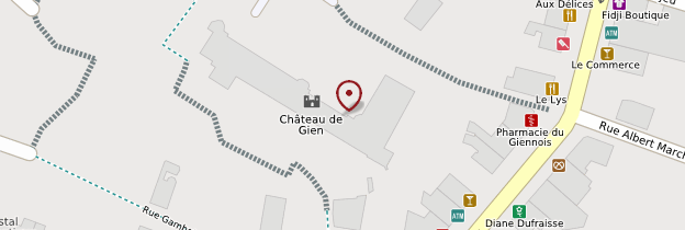 Carte Château de Gien - Châteaux de la Loire