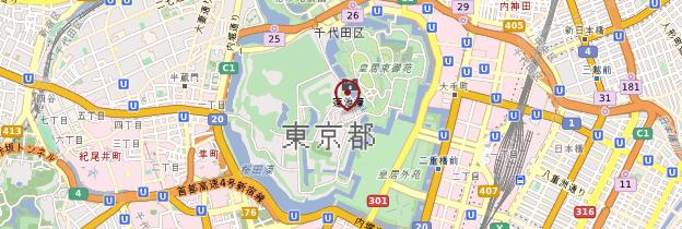 Carte Palais impérial - Tokyo