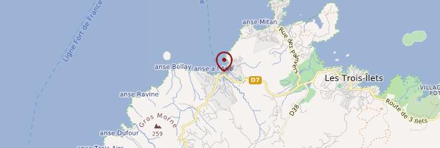 Carte Anse à l'Âne - Martinique