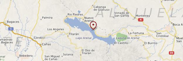 Carte Lac Arenal - Costa Rica