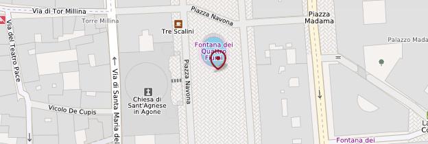 Carte Fontana de Moro (fontaine du Maure) - Rome