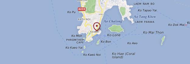 Carte Rawai Beach - Thaïlande