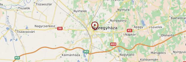 Carte Nyíregyháza - Hongrie