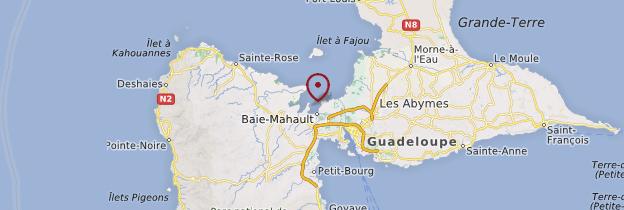 Carte Grand Cul-de-Sac Marin - Guadeloupe