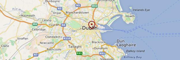 Carte Environs de Dublin - Irlande