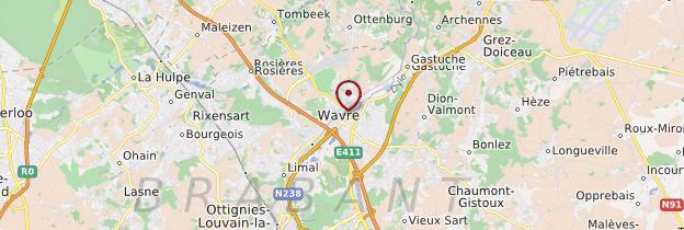 Carte Brabant wallon - Belgique