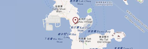 Carte Île de Lamma - Hong Kong