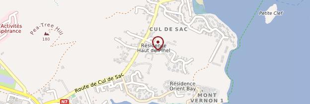 Carte Cul-de-Sac - Saint-Martin