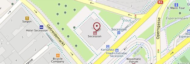 Carte Pavillon de la Sécession - Vienne