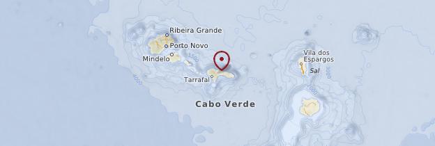 Carte Île de São Nicolau - Cap-Vert
