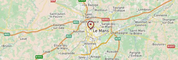 Carte Sarthe - Pays de la Loire