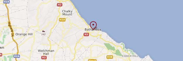 Carte Bathsheba - Barbade