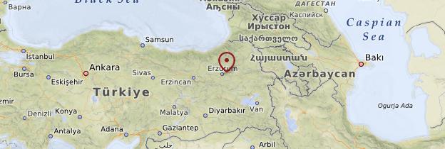 Carte Anatolie Orientale - Turquie