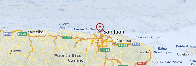 Carte San Juan - Porto Rico