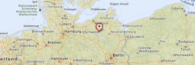 Carte Mecklembourg-Poméranie-Occidentale - Allemagne