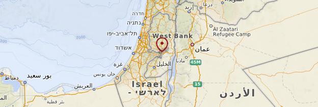 Carte Jérusalem - Israël, Palestine