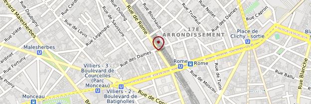 Carte 17ème arrondissement - Paris