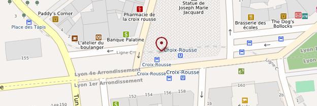 Carte Quartier de la Croix-Rousse - Lyon et ses environs
