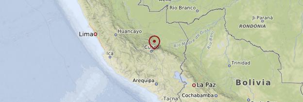 Carte Cuzco et le Pérou inca - Pérou