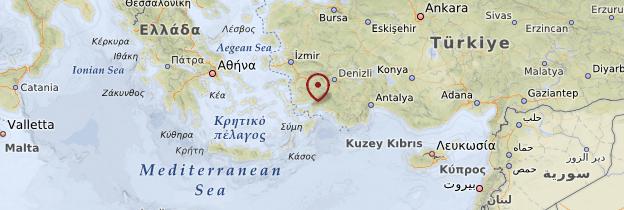 Carte Égée du Sud - Turquie