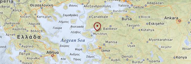 Carte Egée du Nord - Turquie