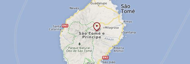 Carte Ile de Sao Tomé - Sao Tomé et Principe