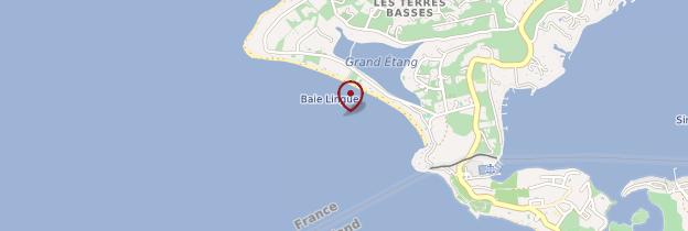 Carte Baie Longue - Saint-Martin