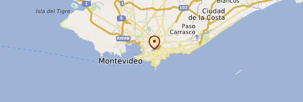 Carte Montevideo - Uruguay